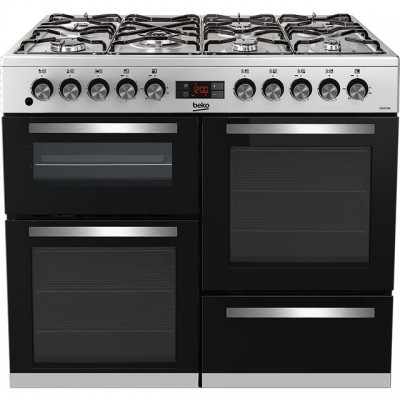 Save £101 at AO on Beko KDVF100X 100cm Dual Fuel Range Cooker - Stainless Steel - A/A Rated