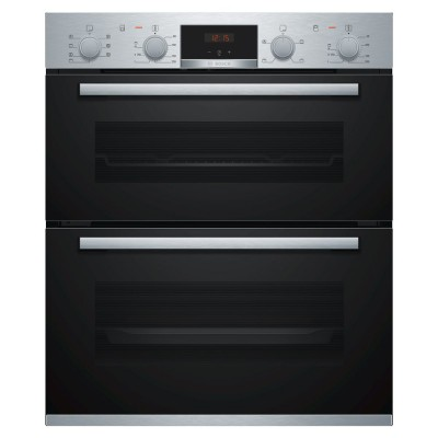 Save £105 at Appliance City on Bosch NBS533BS0B Serie 4 Built Under Double Oven - STAINLESS STEEL