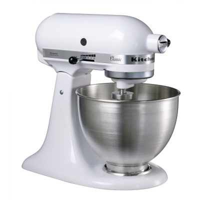 Save £100 at PRCDirect on KitchenAid 5K45SSBWH 4.3L Classic Stand Mixer, White