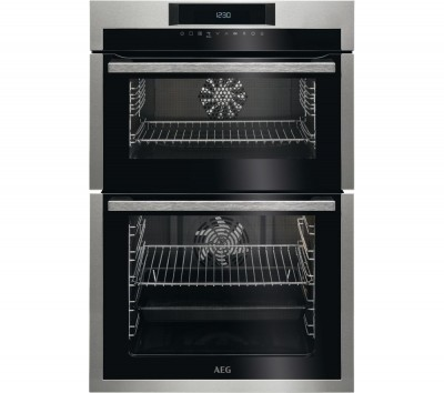 Save £140 at Currys on AEG DCE731110M Electric Double Oven - Stainless Steel & Black, Stainless Steel