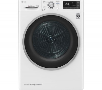 Save £100 at Currys on FDJ608W WiFi-enabled 8 kg Heat Pump Tumble Dryer - White, White