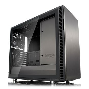 Save £16 at Scan on Fractal Define R6 Grey Tempered Glass USB-C Midi PC Gaming Case