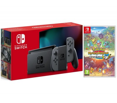 Save £680 at Currys on NINTENDO Switch Grey & Pokémon Mystery Dungeon: Rescue Team DX Bundle, Grey