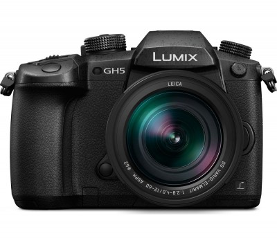 Save £200 at Currys on PANASONIC Lumix DC-GH5LEB-K Compact System Camera with 12-60 mm f/2.8 - 4.0 Zoom Lens - Black, Black