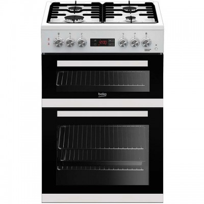Save £50 at AO on Beko KDDF653W 60cm Dual Fuel Cooker - White - A/A Rated