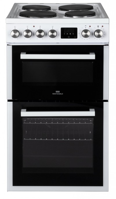 Save £70 at Argos on New World NWLS50DEW 50cm Double Oven Electric Cooker - White