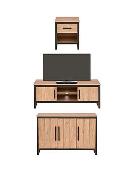 Save £90 at Very on Boston 3 Piece Package - Tv Unit, Sideboard And Lamp Table