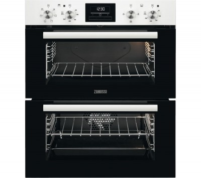 Save £80 at Currys on ZANUSSI ZOF35601WK Electric Built-under Double Oven - White Steel, White