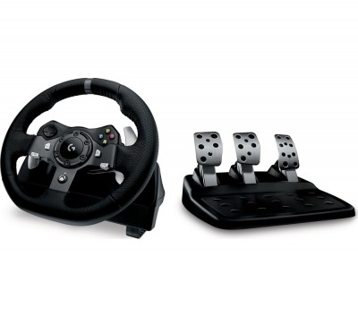 Save £35 at Currys on LOGITECH Driving Force G920 Xbox One & PC Racing Wheel & Pedals - Black, Black