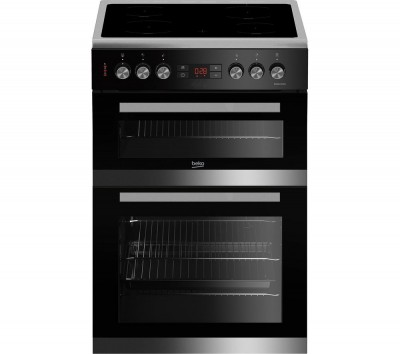 Save £51 at Currys on BEKO JDC683X 60 cm Electric Ceramic Cooker - Stainless Steel & Black, Stainless Steel