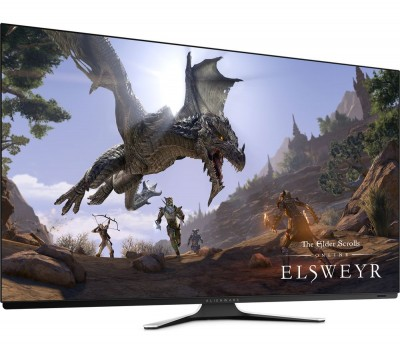 "Save £600 at Currys on ALIENWARE AW5520QF 4K Ultra HD 55"" OLED Gaming Monitor - Lunar White, White"