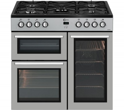 Save £81 at Currys on FLAVEL MLN9FRS 90 cm Gas Range Cooker - Silver & Black, Silver