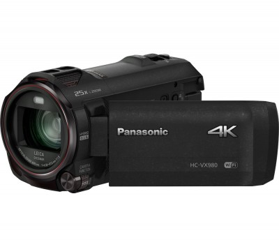 Save £50 at Currys on PANASONIC HC-VX980EB-K Traditional Camcorder - Black, Black