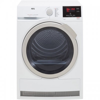 Save £79 at AO on AEG SensiDry Technology T7DBG832R 8Kg Heat Pump Tumble Dryer - White - A+ Rated