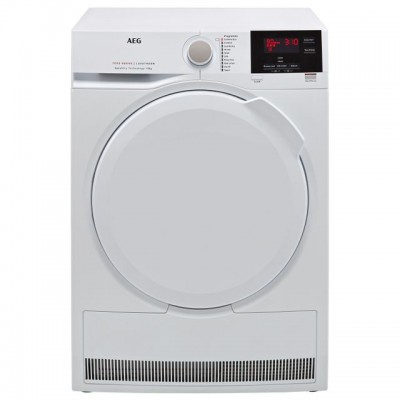 Save £100 at AO on AEG SensiDry Technology T7DBG840N 8Kg Heat Pump Tumble Dryer - White - A++ Rated
