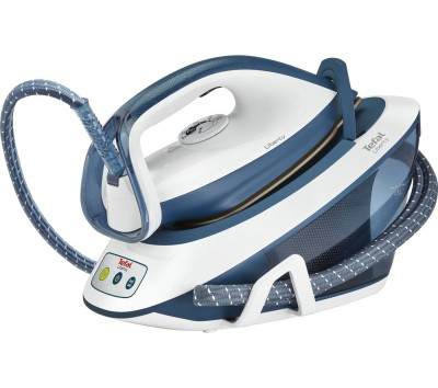 Save £100 at Currys on TEFAL Liberty SV7030 Steam Generator Iron - Blue & White, Blue