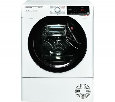 Save £50 at Currys on HOOVER Dynamic Next DX HY10A2TKE Smart 10 kg Heat Pump Tumble Dryer - White with Tinted Door, White