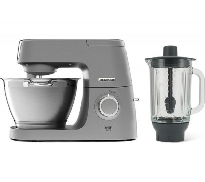 Save £100 at Currys on Chef Elite KVC5320S Stand Mixer with Glass Blender - Silver, Silver