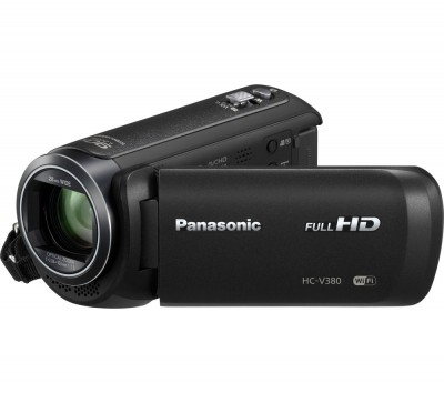 Save £40 at Currys on PANASONIC HC-V380EB-K Traditional Camcorder - Black, Black