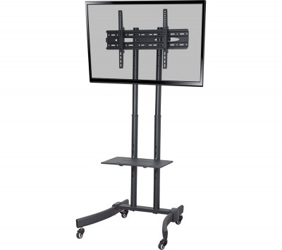 Save £80 at Currys on PROPER Portable Trolley TV Stand with Bracket - Black, Black