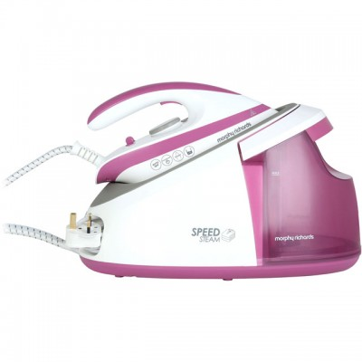 Save £17 at AO on Morphy Richards Speed Steam 333201 Pressurised Steam Generator Iron - Pink / White