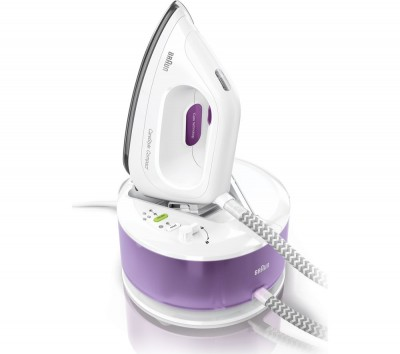 Save £100 at Currys on BRAUN CareStyle Compact IS2044 Steam Generator Iron - White & Violet, Braun