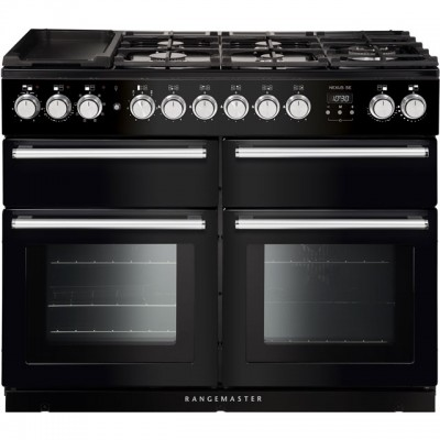 Save £1270 at AO on Rangemaster Nexus SE NEXSE110DFFBL/C 110cm Dual Fuel Range Cooker - Black / Chrome - A/A Rated