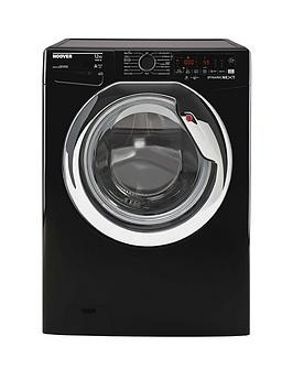 Save £70 at Very on Hoover Dwoa412Ahc8B-80 12Kg Load, 1400 Rpm, Wifi Washing Machine - Black With Chrome Door
