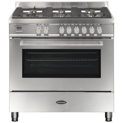 Save £420 at Appliance City on Britannia RC-9SG-QL-S 90cm Q Line Dual Fuel Single Oven Range Cooker - STAINLESS STEEL