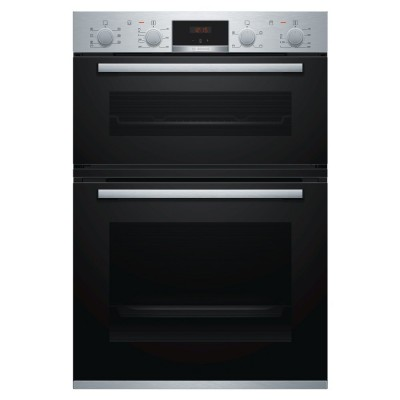 Save £125 at Appliance City on Bosch MBS533BS0B - EX DISPLAY Built In Serie 4 Double Oven - STAINLESS STEEL