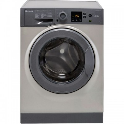 Save £80 at AO on Hotpoint NSWM943CGGUK 9Kg Washing Machine with 1400 rpm - Graphite - A+++ Rated