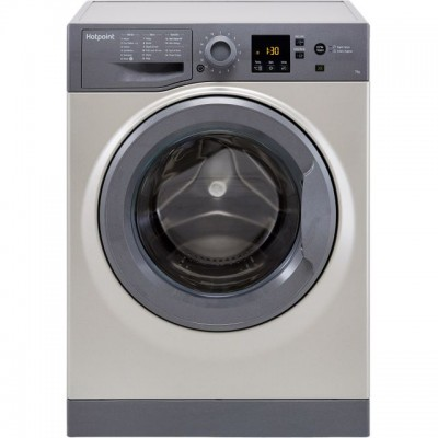 Save £40 at AO on Hotpoint NSWM743UGGUK 7Kg Washing Machine with 1400 rpm - Graphite - A+++ Rated