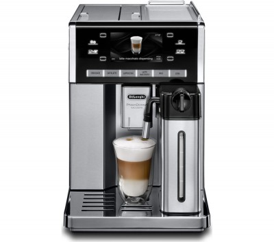 Save £1000 at Currys on DELONGHI Prima Donna Exclusive ESAM6900.M Bean to Cup Coffee Machine - Black & Stainless Steel, Stainless Steel