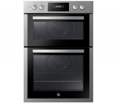 Save £50 at Currys on HOOVER H-OVEN 300 HO9DC3E3078IN Electric Double Oven - Stainless Steel, Stainless Steel