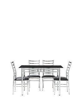 Save £40 at Very on Elect 120 Cm Glass Dining Table + 4 Chairs