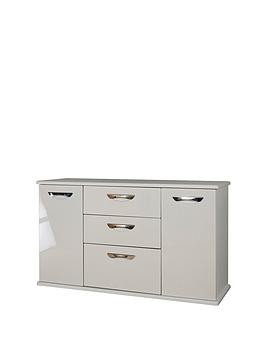 Save £40 at Very on Swift Neptune Ready Assembled High Gloss Large Sideboard - Grey