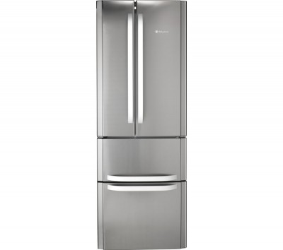 Save £110 at Currys on HOTPOINT Slim American Style Fridge Freezer FFU4D.1 X - Stainless Steel, Stainless Steel