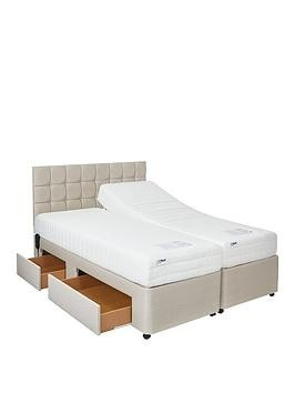 Save £250 at Very on Mibed Rainford Adjustable Divan Bed (2 X Linked Beds)  Choose A Reflex Memory Or 1000 Pocket Memory Mattress
