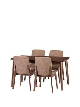 Save £60 at Very on Julian Bowen Kensington 150 - 194 Cm Solid Wood Extending Dining Table + 4 Chairs