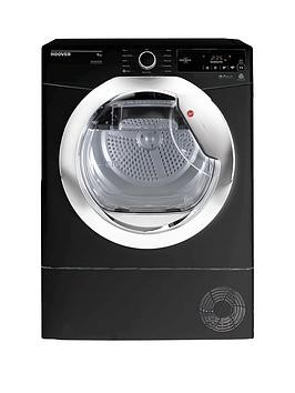 Save £30 at Very on Hoover Dynamic Next Dxc9Tceb 9Kg Load, Aquavision Condenser Tumble Dryer With One Touch - Black/Chrome