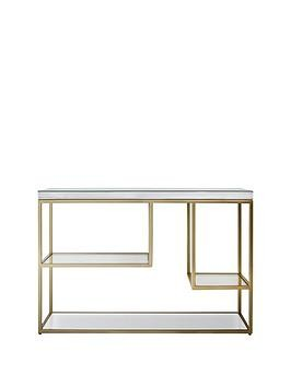 Save £50 at Very on Hudson Living Pippard Console Table - Champagne
