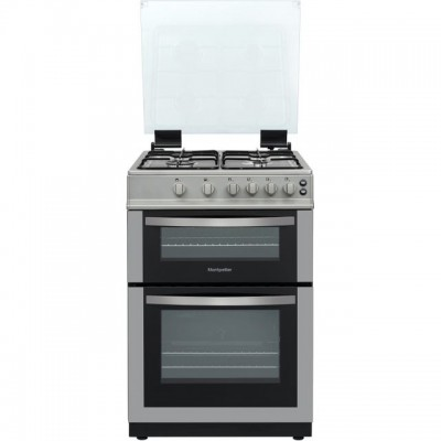 Save £50 at AO on Montpellier MDG600LS Gas Cooker with Full Width Gas Grill - Silver