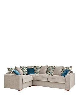 Save £190 at Very on Miller Fabric Left Hand Corner Group Scatter Back Sofa