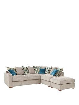 Save £290 at Very on Miller Fabric Right Hand Corner Chaise Scatter Back Sofa With Footstool And Sofa Bed