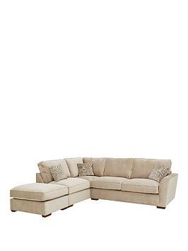 Save £190 at Very on Kingston Fabric Left Hand Standard Back Corner Chaise Sofa With Footstool