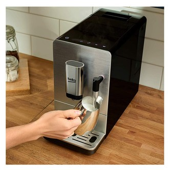 Save £40 at Sonic Direct on Beko CEG5311X Bean to Cup Coffee Machine with Steam Wand