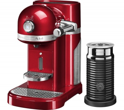 Save £60 at Currys on NESPRESSO Artisan Nespresso Hot Drinks Machine with Aeroccino 3 - Candy Apple, Red
