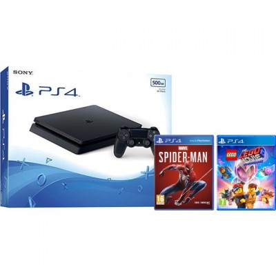 Save £45 at AO on PlayStation 4 500GB with Spiderman and Lego Movie 2 (Disc) - Black