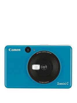 Save £31 at Very on Canon Canon Zoemini C Pocket Size 2-In-1 Instant Camera Printer - Seaside Blue - Zoemini C Instant Camera With 60 Pack Paper