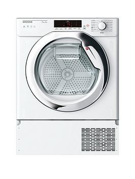 Save £90 at Very on Hoover Htdbw H7A1Tce Integrated 7Kg Load, Aquavision, Heat Pump, One-Fi Extra Tumble Dryer - White - Dryer With Installation